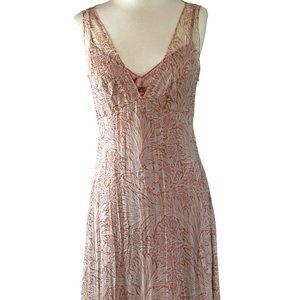 Tahari 100% Silk Floral Sleeveless Slip Dress